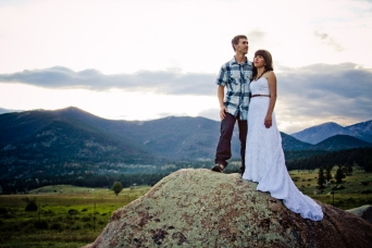 A trash the dress session in the Rockies