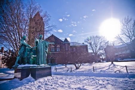 The University of Illinois on a snowday